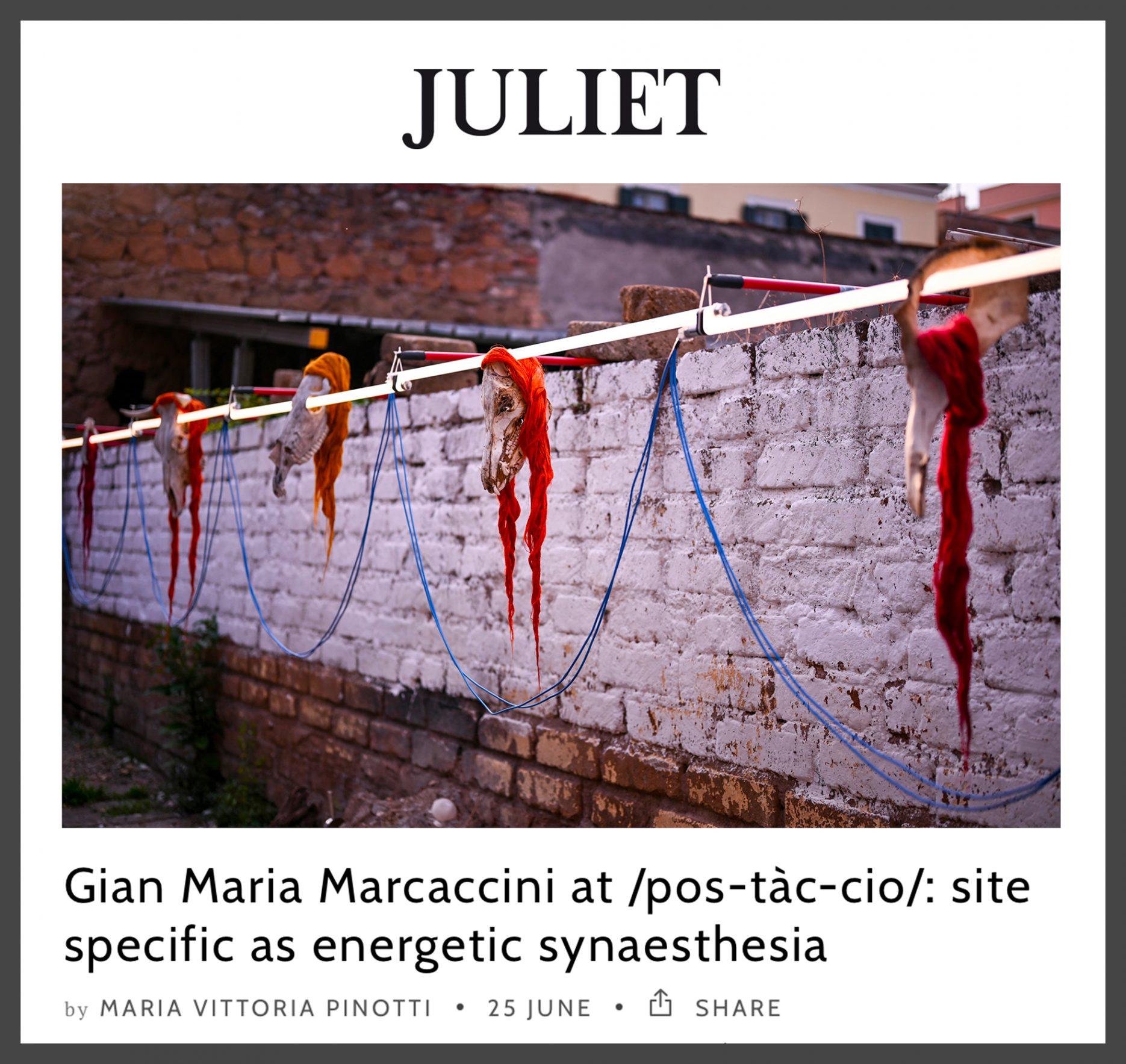 Juliet /pos•tàc•cio/ #1 Gian Maria Marcaccini